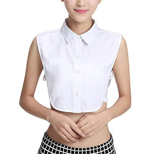 TAKIYA Womens Half Shirt Fake Collar Detachable Shirt Dickey False Collars (White#2)