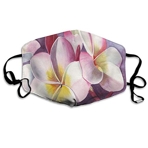 Liayai7. Anti Dust Mask Painting Flower Watercolor Painting,Face Mouth Cover Winter Healthy Windproof for Students Halloween Mouth Masks ()