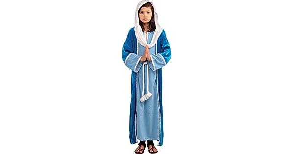 Amazon.com: Disfraz de María para niña, Virgen ...