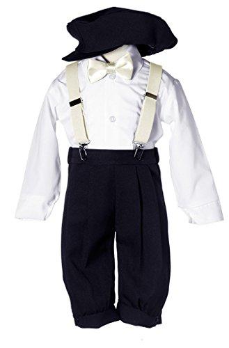 Toddlers & Boys Vintage Black Knickers Set with Suspender...