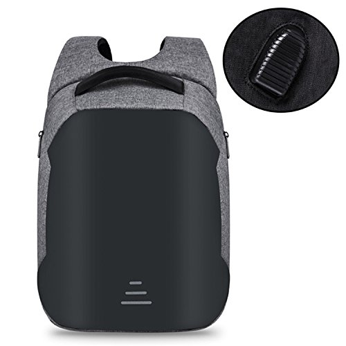 Price comparison product image Marvin Cook Men USB Charging Waterproof Travel Backpack Teenagers Anti-theft 15.6 Inch Laptop Backpack Bag C GRAY