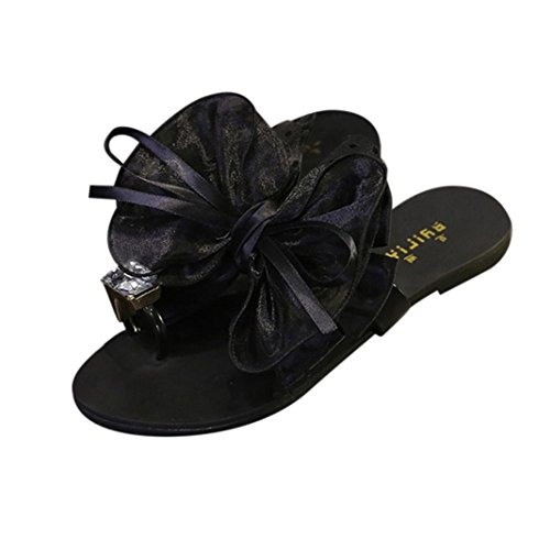 Sandals Flip Flower Women Ring Fashion Flat Fheaven Flop Shoes Summer Sandals Casual Shoes Black Toe Wedges Beach BxwgT6