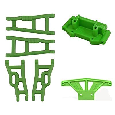 RPM Traxxas Stampede Complete Green Suspension Arms, Bulkhead & Bumper: Toys & Games