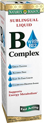 Nature's Bounty Vitamin B Complex Sublingual Liquid 2 oz (Pack of 12) by Nature's Bounty