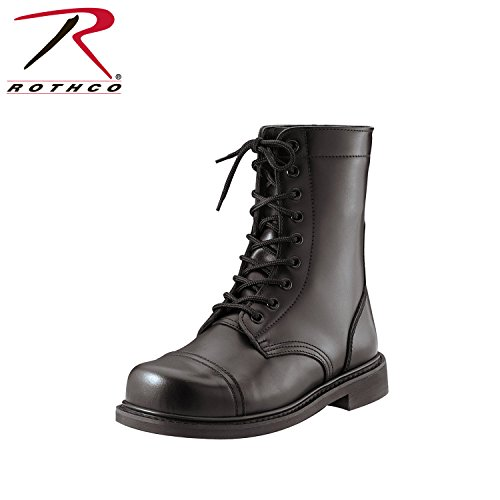 Rothco 9'' Steel Toe Combat Boot, Black, 9.5 9' Leather Combat Boot