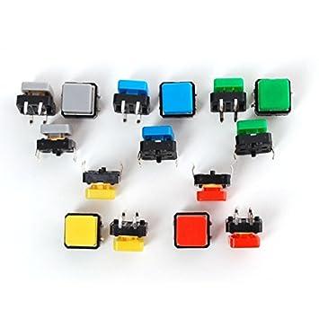 De Colores15 Pulsadores Unidades Pack PTXuOkZi