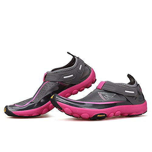 Boating HUMTTO Water Shoes Athletic Walking Lake Swim 2327 Shoes Women Man and Beach Gray Unisex wPtr5Exqw