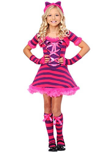 Kid's Wonderland Cat Costume Sassy Wonderland Cat Costume for Girls Small Pink -