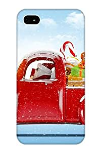 Flexible Tpu Back Case Cover For Iphone 4/4s - Santa Claus Has Come To Town
