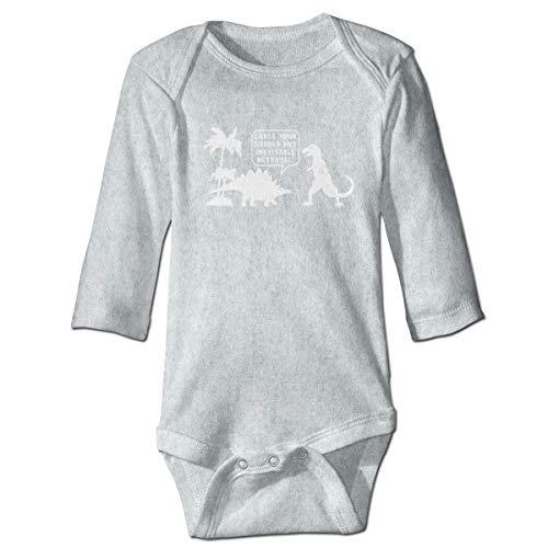 (Baby Long Sleeve Bodysuit Firefly Tree Dinosaur Snap Closure Toddler Baby Girls Boys Layette Romper)