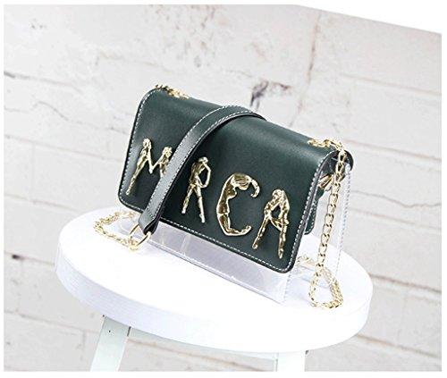 Handbag Mini Bolso de Cadena, Bolso Transparente de la Jalea de la Muchacha del Verano, Bolso de Mensajero del Hombro A+ (Color : Negro) La Plata