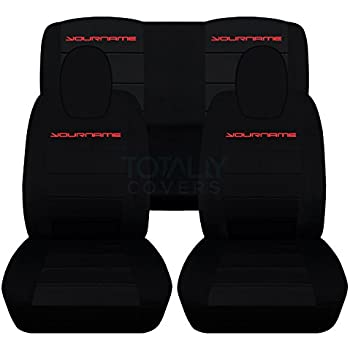 2010 2015 chevy camaro black red artificial leather custom fit front seat cover. Black Bedroom Furniture Sets. Home Design Ideas
