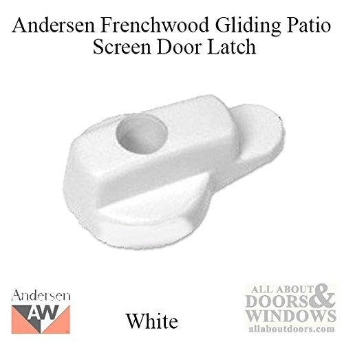 Andersen Screen Door Latch in White 1991 to Present Crl White Screen Door
