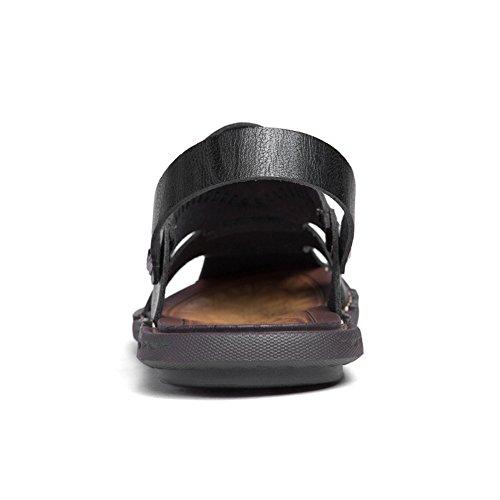 Vamp EU Nero Dimensione shoes 2018 On alla uomo Slip Scarpe Mens Hollow Color da Sandali moda 46 piatto tacco BwZvUwxq