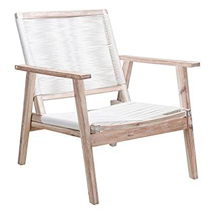 Zuo Modern Patio Furniture.Amazon Com Zuo Modern South Port Arm Chair In White Wash Finish