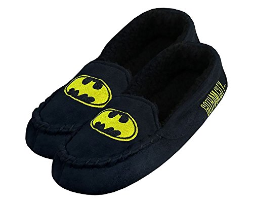 DC Comics Batman Embroidered Bat Logo Moccasin Slippers - Women's X-Large (12/13) from DC Comics