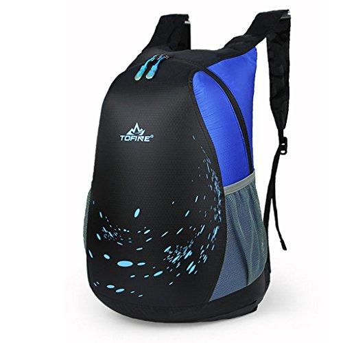 alpinismo al aire libre del bolso de hombro bolsa de equipaje de nylon hombres y mujeres mochila plegable ocasional coreano azul