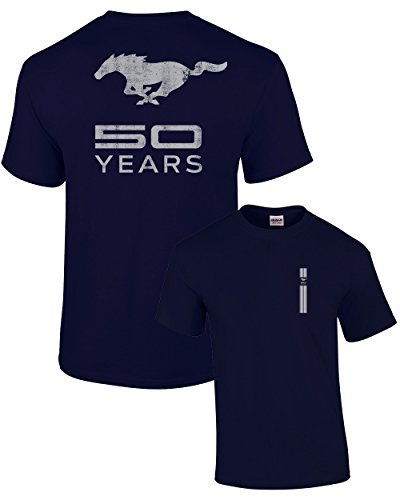 Ford T-Shirt Mustang 50 Years Pony-Navy-XL