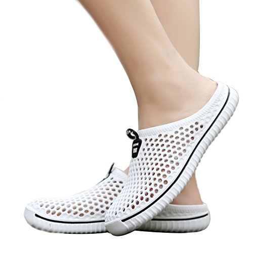 Genda 2Archer Summer Hollow Breathable Sandals Hole Mesh Shoes Couple Beach Slippers White 2ODuk