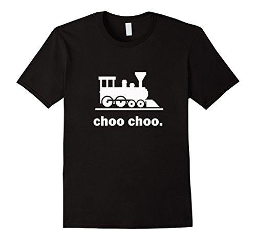 Men's Choo Choo Train T-Shirt - Railway Road Conductor Lo...