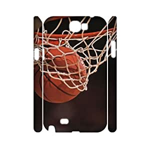Samsung Galaxy Note 2 N7100 3D DIY Phone Back Case with basketball Image