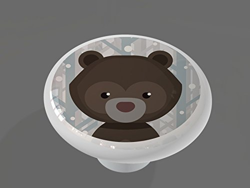 High Gloss Ceramic Drawer Knob (Bear Drawer Knob)