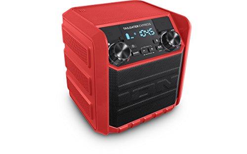 ION Audio Tailgater Express - Altavoz inalámbrico compacto resistente al agua con radio AM/FM y puerto de carga USB (20 W),...