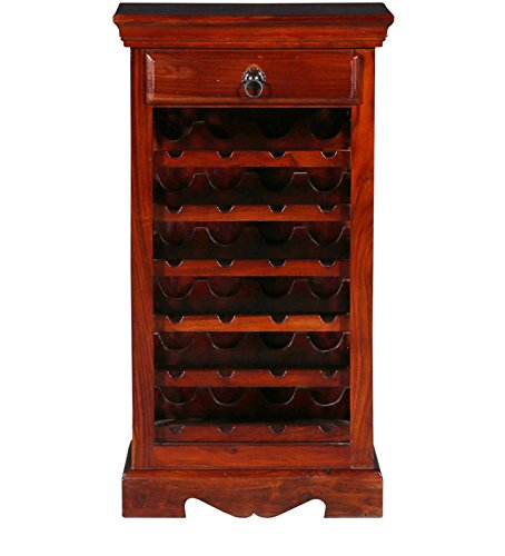 SNG Solid Wood Bar Cabinet Honey Finish (Acacia Wood)