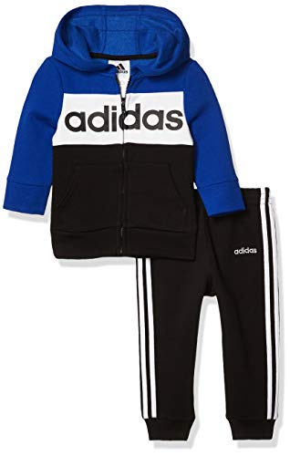 adidas baby-boys Li'l Sport Hoodie and Sweatpants Clothing Set