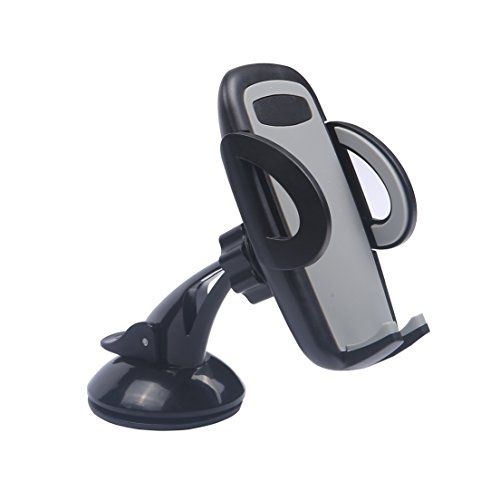 Cyber Roll Car Mount 360° Rotation Phone Stand 3-in-1 Universal Dashboard Air Vent Windshield Holder Ball-bracket Cradle Mobile Phone Support for iPhone Samsung Galaxy And More (Gray)