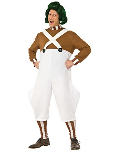 (Rubie's Costume Co Willy Wonka & The Chocolate Factory Deluxe Oompa Loompa Costume, Multi,)