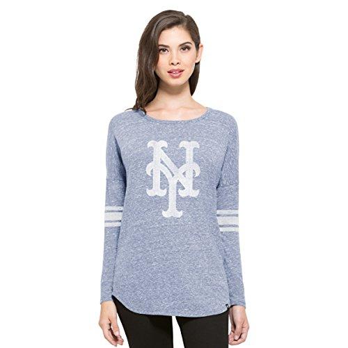('47 MLB New York Mets Women's Neps Long Sleeve Tee, Medium, Olympic Blue )