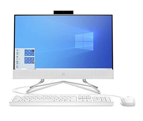 HP 22-df0000ne All in One Desktop, 22-Inch Display, 10 Gen Intel Core i3, 4GB RAM, 1TB HDD, Intel UHD Graphics, EN-AR KB - White