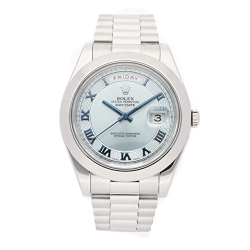 - Rolex Day-Date II Mechanical (Automatic) Blue Dial Mens Watch 218206 (Certified Pre-Owned)