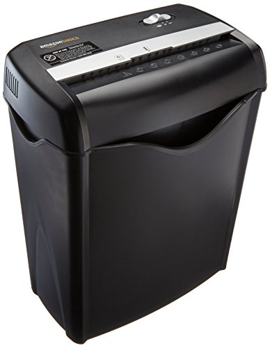 AmazonBasics 6-Sheet Cross-Cut Paper and Credit Card Home Office Shredder