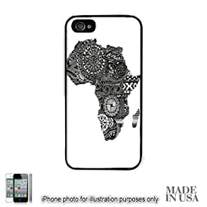 Africa African Flag Art Map Design Print by L Kayon iPhone 5 5S Hard Case - BLACK Unique Design Gifts