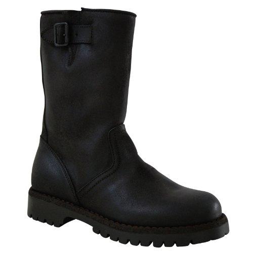 Gallucci Biker Boots avec doublure fourrure d'agneau en marron foncé 31