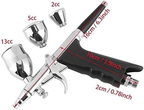 0,2 0,3 0,5 mm Single Action Airbrush Gun Kit Schwerkraftfutter Nail Tattoo