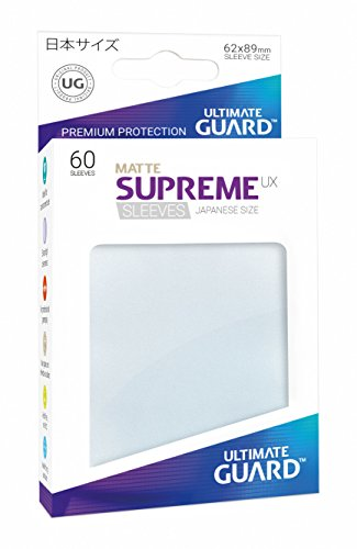 Ultimate Guard Supreme Japanese UX Card Sleeves (60 Piece), Matte Frosted