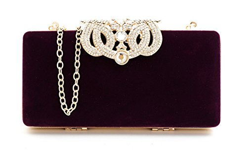 Bags Shiratori Evening Purple Crown Clutches Handbags Purses and and XfaX4p