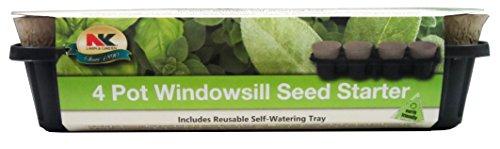NK Lawn & Garden 4-Pot Windowsill Seed Starter Tray