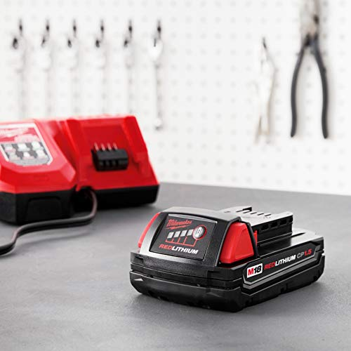 Milwaukee M18 48-11-1815 Compact 18V 1.5 Amp Hour Red Lithium Ion Battery w/ Onboard Fuel Gauge - http://coolthings.us