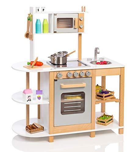 Kinderküche Grau - Small Foot Küche aus Holz mit Zubehör