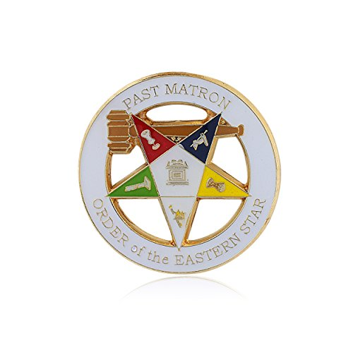 - Past Matron Order of the Eastern Star Lapel Pin (1.25 inches - Masonic)
