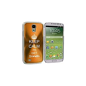 Gold Samsung Galaxy S4 S IV i9500 Aluminum Plated Hard Back Case Cover KK328 Keep Calm and Get Inked by ruishername