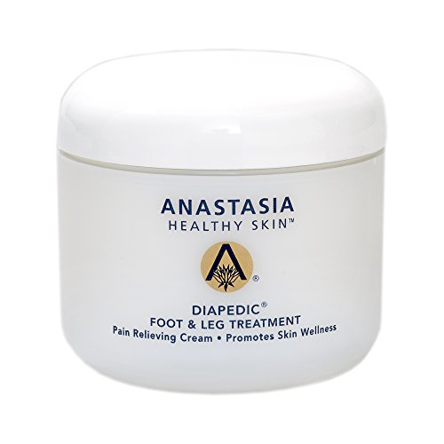 Anastasia Healthy Skin Diapedic Foot and Leg Treatment Pain Relieving Cream, 4 oz. Jar