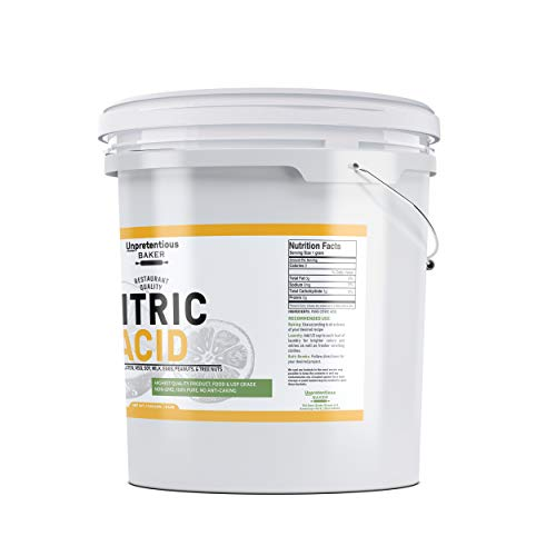 Citric Acid (1 Gallon (8 Lbs.)) by Unpretentious Baker, Resealable Bucket, For Cooking & Cleaning, All-Natural, Highest Quality, Food Grade & USP Pharmaceutical Grade, Non-GMO, Chemical Free