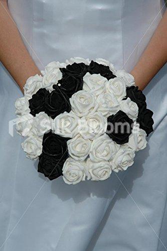 Bouquet Sposa Nero.Silk Blooms Ltd Bouquet Da Sposa Classico Bianco E Nero