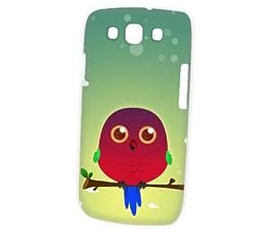 Case Fun Samsung Galaxy S3 (i9300) Case - Vogue Version - 3D Full Wrap - Australian King Parrot by DevilleART