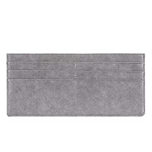 Women's Credit Card Wallet Slim Long Zipper Pocket Purse for Coin, Receipt, Cash Multi-Function Card Wallet for Women (Grey)